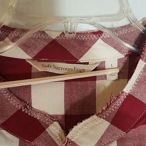 Soft Surroundings Tops - Soft Surroundings Picnic Checked Top